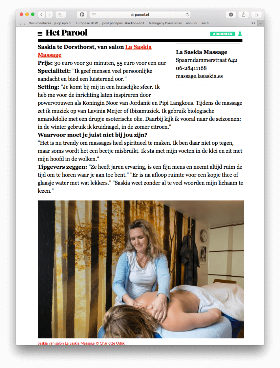 Parool beste massagesalon Amsterdam